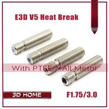 E3D V5 HeatBreak Горло Hotend Для 1.75/3.0 мм Нити Все-Металл/С PTFE Нержавеющая Сталь Дистанционного питательная Трубка Трубы Принтера