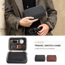 TTLIFE 4/8 Grids PU Leather Watch Storage Box Display Case Tray Zipper Travel Jewelry Necklace Earrings Collector Organizer Case цена и фото