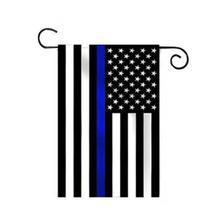 Aerlxemrbrae 45 см x 30 см тонкая Голубая линия Садовый флаг Полиция правоприменительные полиэстер садовый баннер
