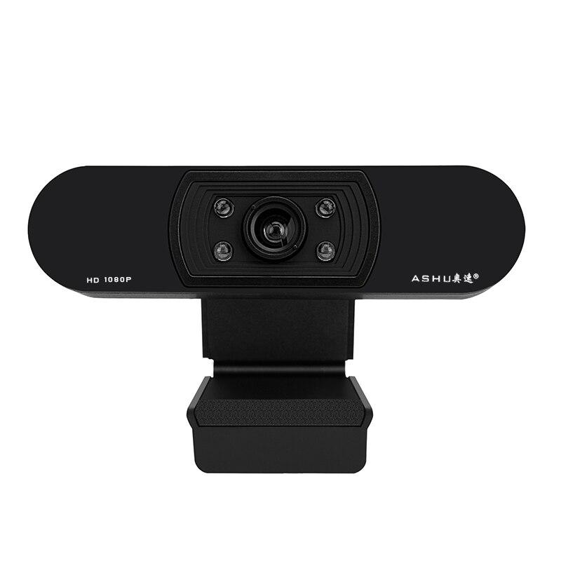 Webcam 1080 p, hdweb con cámara incorporada micrófono HD 1920x1080 P USB Plug n play web cam, vídeo de pantalla ancha