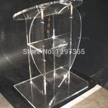 Pulpit furnitureбесплатная Прозрачная Съемная акриловая Трибуна letternacrylic pulpit