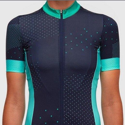Prix pour 2017 nouveau design printemps eté femme sport Cyclisme Jersey fille manches Courtes vélo t-shirt