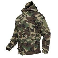 Дропшиппинг наружная Тактическая Военная флисовая куртка мужская водостойкая охотничья и походная Куртка теплое армейское пальто с капюшоном