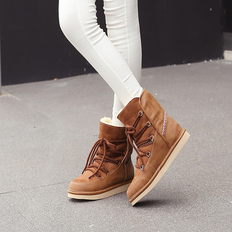 Shoes Women Winter Boots Genuine Leather Snow Boots Ankle Warm Fur Shoes Woman Flats Casual Shoes Plus Size bota feminina FW203 high quality 12 18 24 pcs toothbrush shape makeup brush set cosmetics makeup make up metal brushes beauty tools powder brush