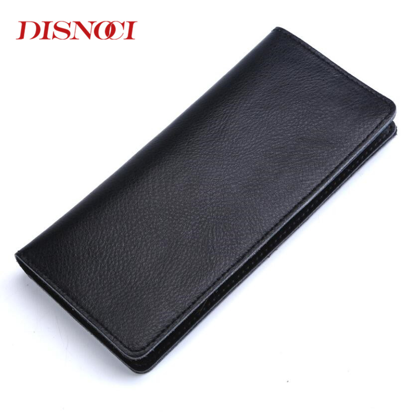 Women Long Wallet Cow Split Leather Soft Men Simple Design Ladies Leather Purse Clutch Money Bag Fashion Purse