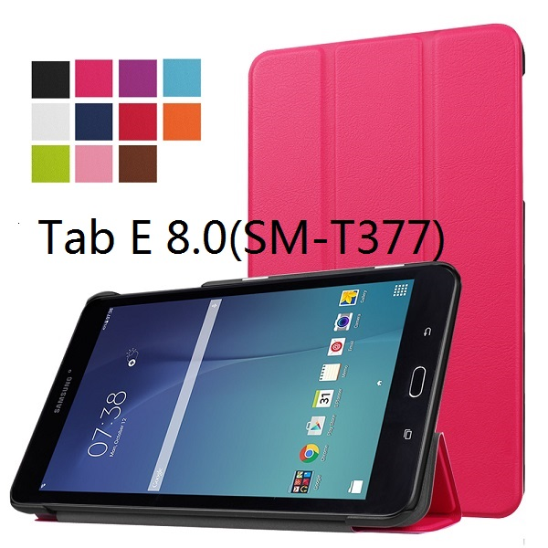 brand new 13a0e 162f7 US $6.56 25% OFF|Smart Ultra thin leather cover case stand PU slim case for  Samsung Galaxy Tab E 8.0 T377(SM T377V) 4G LTE tablet +free gift-in ...