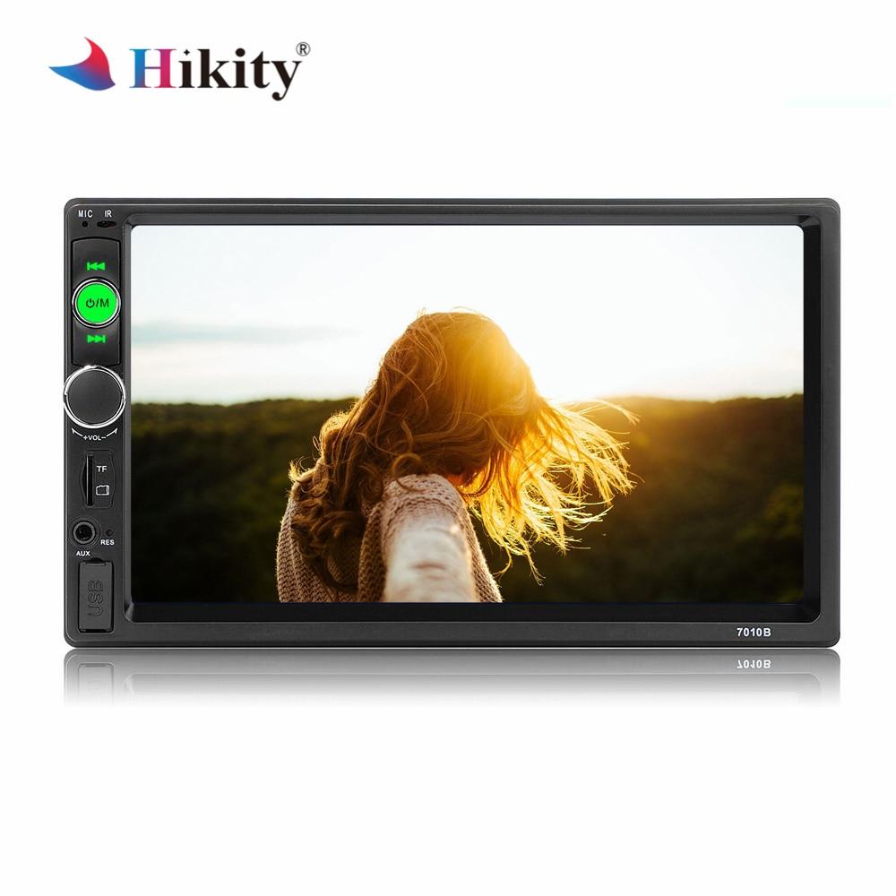 Hikitty autoradio 7010B 2 Din Mirror link multimédia Auto Radio 7 pouces écran tactile MP5 lecteur Support voiture caméra de sauvegarde