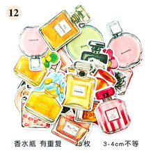 1 Box Lovely Perfume Bottles Pattern Decoracion Stickers Scrapbooking Stickers Student Office Supplie(China)
