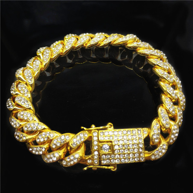 12mm HipHop Gold Silver...