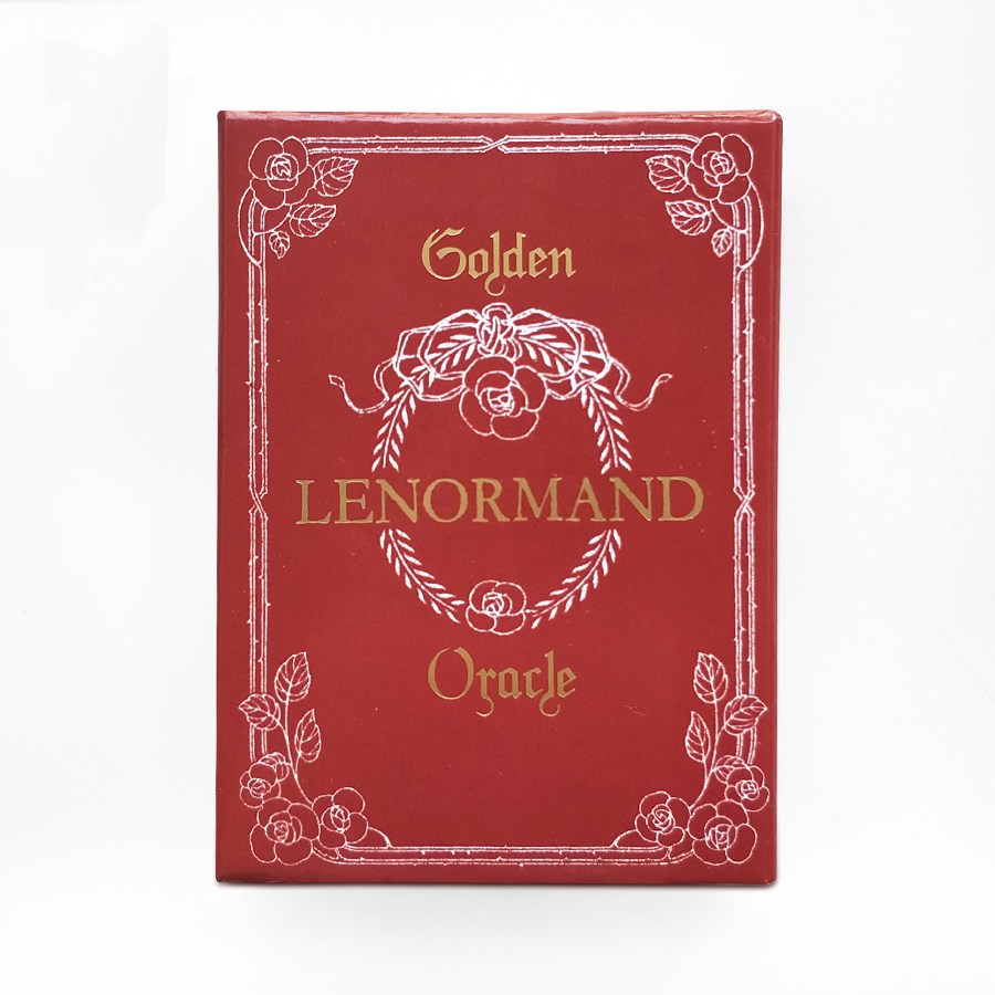 Golden Lenormand Oracle English Version 36pcs/set Playing Card Tarot Board Game Card