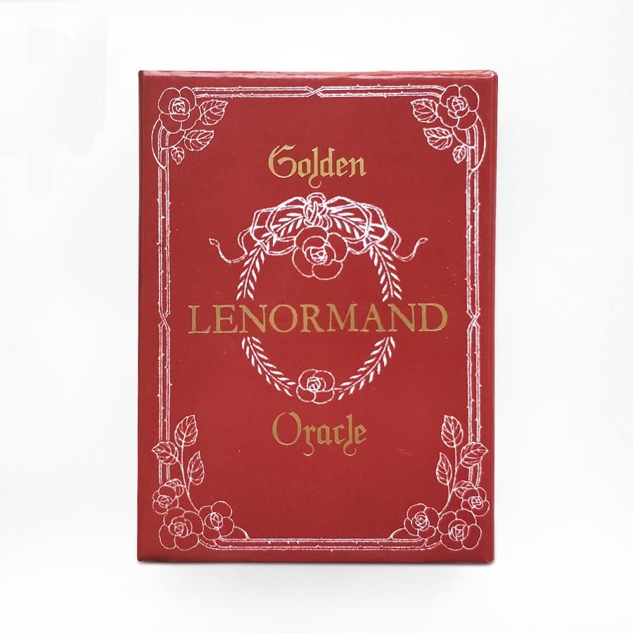 Golden Lenormand Oracle English Version 36pcs/set Playing Card Tarot Board Game Card