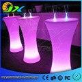 Alta de plástico mudança de cor led mesa de bar cocktail mesas de café para o clube de festa de casamento cerimônia de abertura grand