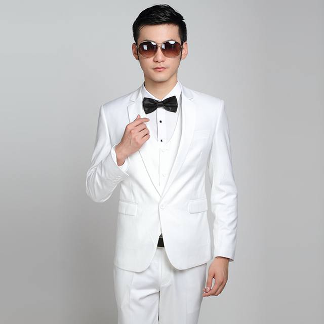 (Jacket + Pants) Fashion Men Business Suits Slim Men's Suits Brand Clothing Wedding Suits For Men Latest Coat Pant Designs 1