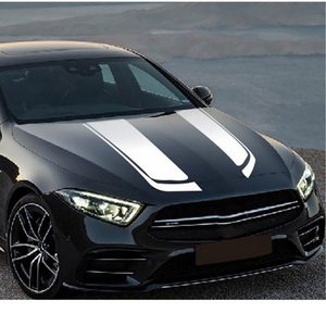 Image 4 - 1 Pair Sports Engine Cover Stripe Car Stickers and Decals Universal Auto Styling Racing Vinyl Car Accessories
