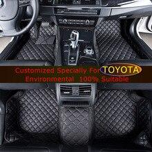 Автомобильные коврики Для Toyota Camry RAV4 Land Cruiser Previa Парадо Alphard Corolla Highlander Автомобиль коврики Ковры ковер, коврик для автомобиля
