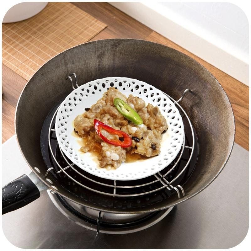 Semi-circulaire-acier inoxydable-huile-drain-grille-bol-vapeur-grille-friture-huile-goutte-à-goutte-cadre-isolation (2)