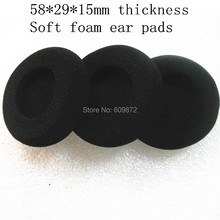 10 Pack of  Soft Foam Ear Pads 58mm Headset Sponge Cushion Durable Headphone 5.8cm for Call Center