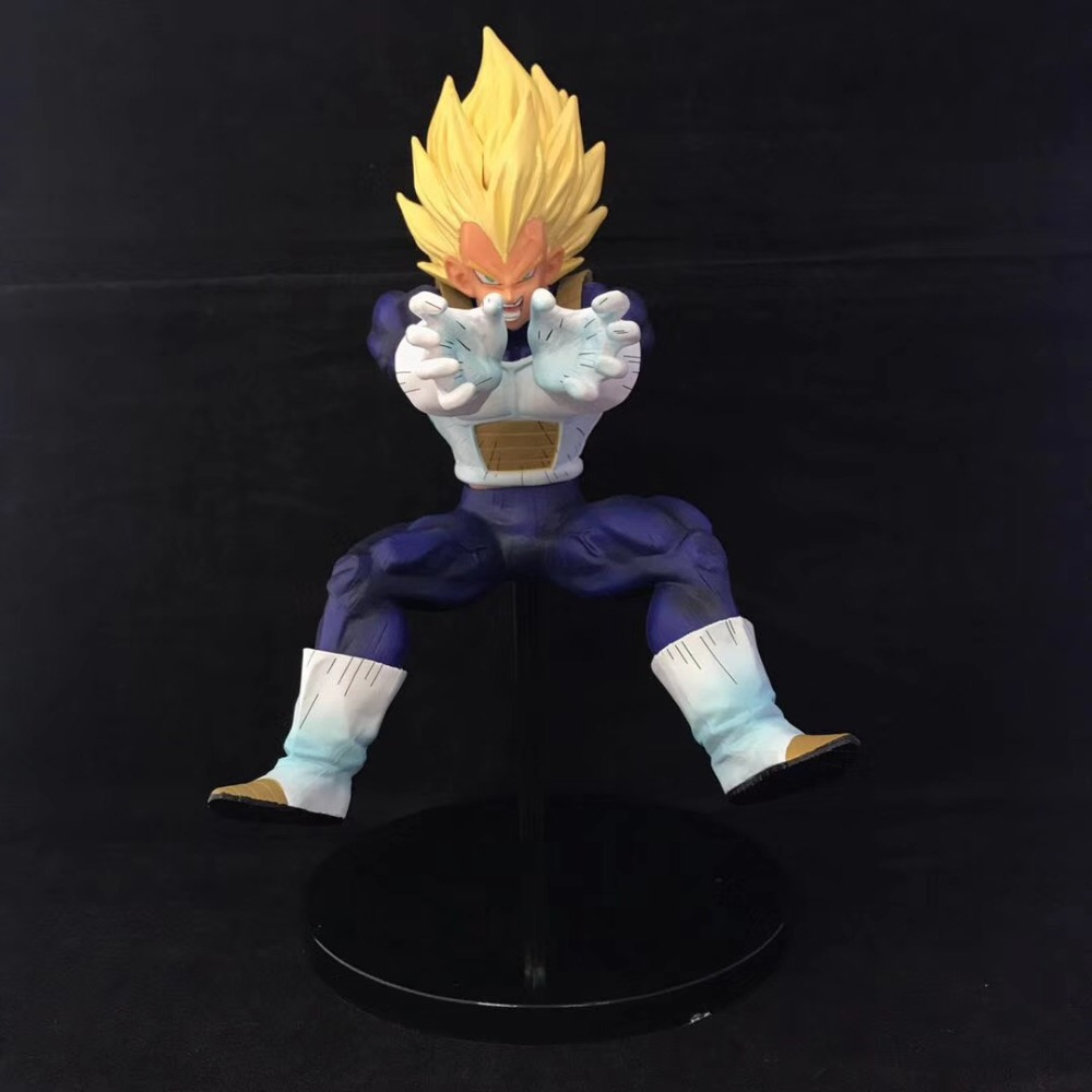 New Dragon Ball Z Super Saiyan Prince Vegeta Battle Final Flash 23cm Action Figure Toriyama Akira Comic Anime image