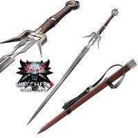 Ведьмак 3: Дикая Охота Геральт ривия Геральт's стальной меч игры Cospaly Меч Лезвие из нержавеющей стали