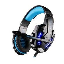 Бас PC игровой шлем каждый G2000 стерео HiFi игровые наушники С микрофоном Dazzle огни светятся игры музыкальная гарнитура fones