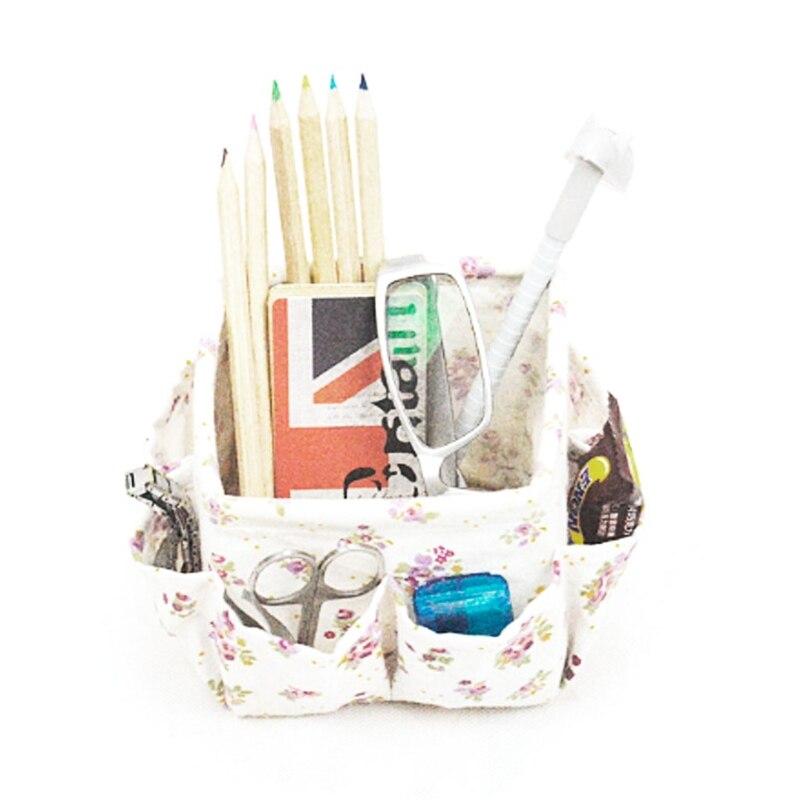 Floral Pattern Multifunction Organizer Desktop Makeup Storage Box Basket Cosmetic Organizer Toiletries Jewelry Case