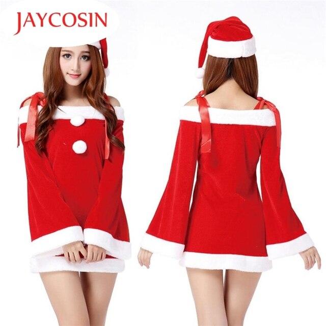 Heißer Damen Sexy Santa Kostüm Frauen Mrs Weihnachtsfeier Phantasie ...