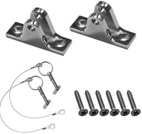 MARINE BOAT BIMINI TOP FITTING DECK HINGE STAINLESS STEEL WITH PIN SLOPING Sloping With Bolt