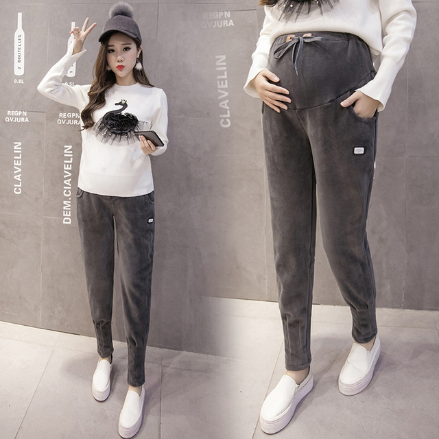 fb1b370c5ce27 Fashion Maternity Sports Pants Sweatpants Pregnancy Clothes For Pregnant  Women Casual Maternity Clothing Trousers