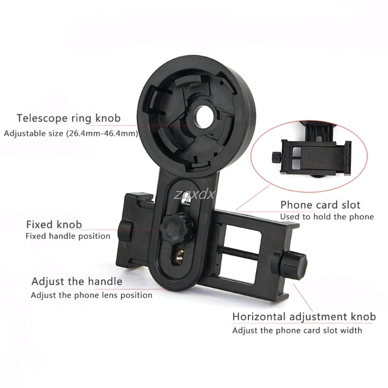 Optical Monocular Telescope Universal Holder Adapter Clip Mount Bracket For Width 5.5-9cm Mobile Smart Phone Whosale&Dropship