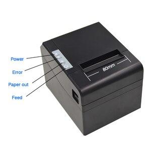 Image 4 - 80mm Pos barkod makbuz fatura termal yazıcı ile yüksek hızlı 300 mm/sn USB LAN bluetooth kullanımı için mutfak otomatik kesici ile