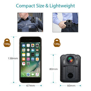 Image 4 - BOBLOV WN9 Wearable Body Worn Camera Novatek 96650 HD 1296P Police Cam 170 Degree 2 Inch Screen Security Police Camera