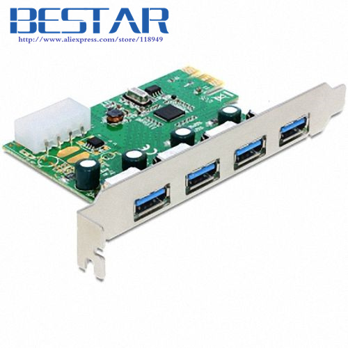 VIA chip USB3.0 USB 3.0 4 ports PCI-E pcie pci Express adapter Controller Card 5Gbps with bracket 2 ports rs485 422 pci card optical isolation surge protection 1053 chip