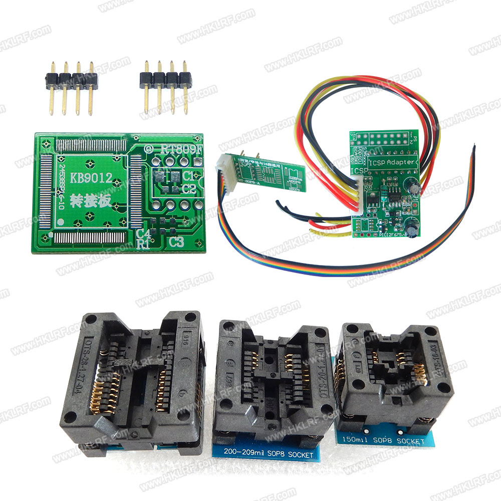 Image 4 - 100% Original  Newest RT809F LCD ISP programmer+ 11 Items +SOP8 Test Clip+1.8V Adapter+TSSOP8/SSOP8 Adapter Free shipping-in Integrated Circuits from Electronic Components & Supplies