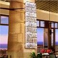 Innenbeleuchtung Kristall wandleuchte Foyer Mode Neben wandleuchte Halle großes wandleuchte Led Metall Rechteck Kristall wandleuchte-in Wandleuchten aus Licht & Beleuchtung bei