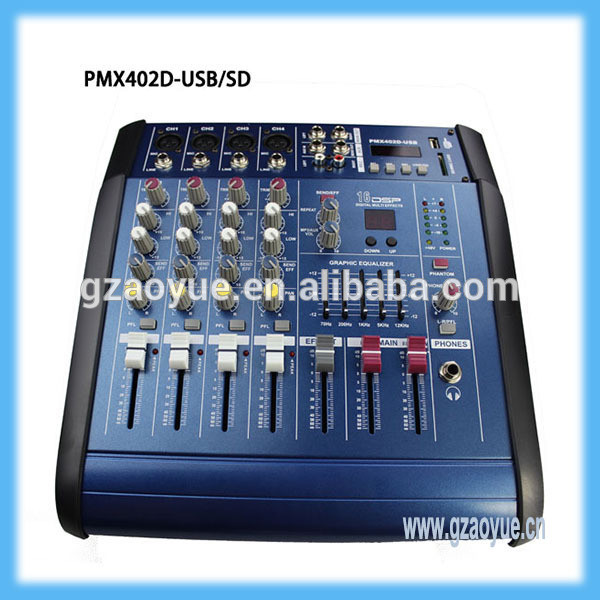 High Quality Mini Audio Mixer Pmx 402d Professional 4