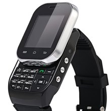 Kenxinda W1 watch IPS LCD 1.44″ Capacitive 128×128 Bluetooth 3.0 Slide-out Keyboard Style Smart Phone -Black