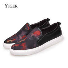 YIGER New Spring Men Loafers Fashion Slip-on Walking Shoes Canvas Camouflage Soft Light Casual Footwear  0027