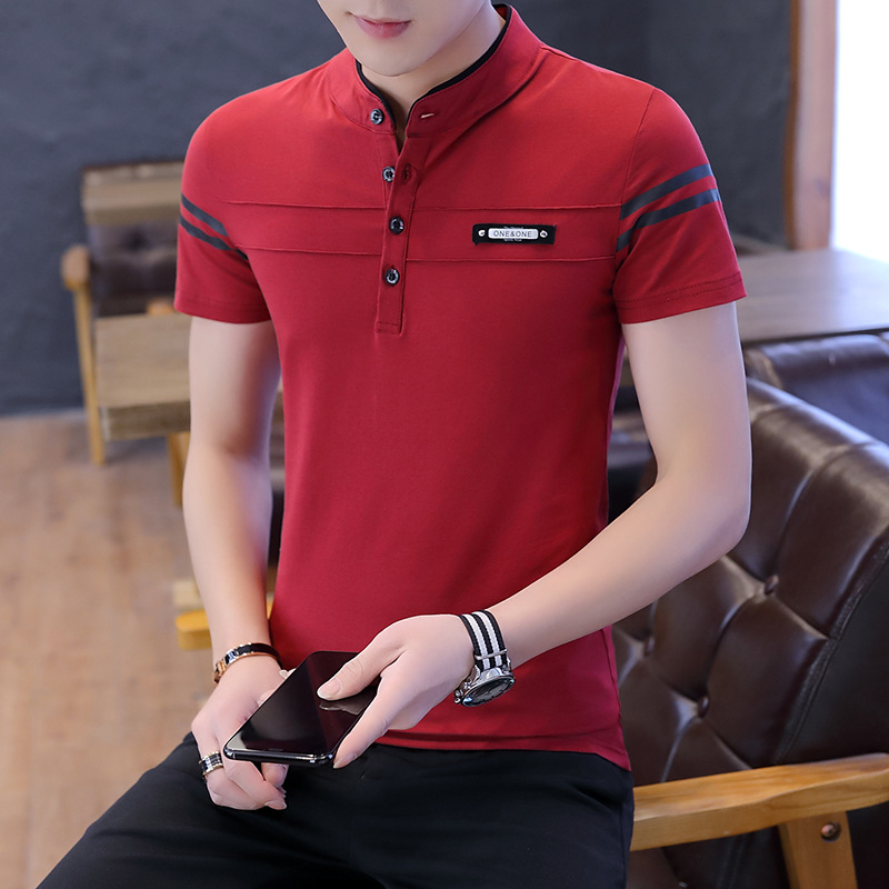 New Arrival Business Polo Shirt Man Summer Pure Cotton Striped Breathable Golf Tennis Jerseys Hot Selling High Quantity Tee Tops