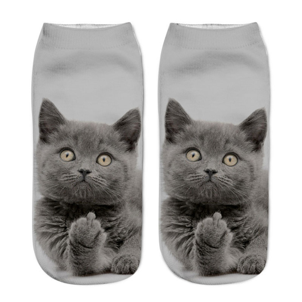 3D Socks Kids Children&Adult Cotton Socks Cute Animal Cat Series Spring Summer Low Ankle Short Sock цена