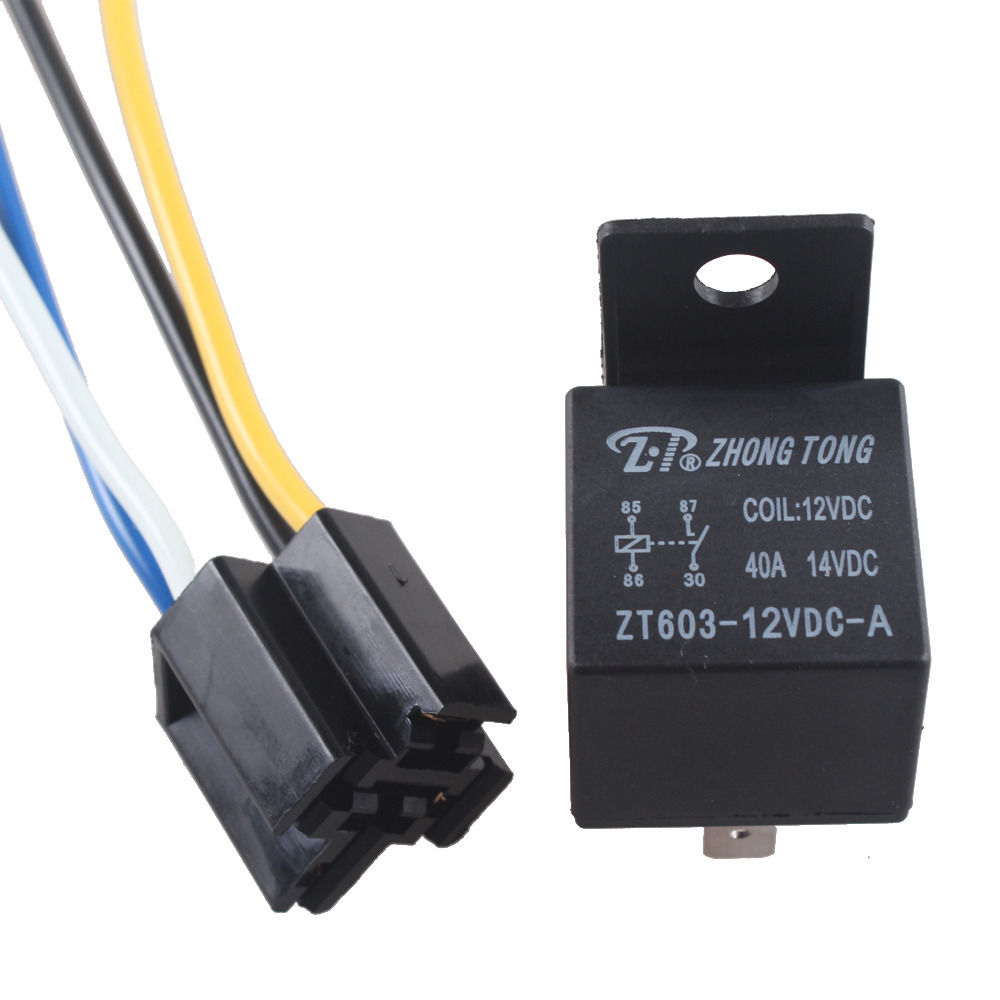 Ee Support 12v 12 Volt Dc 40a Amp Relay Socket Spst 4pin 4 Wire Wiring In Auto Truck Car Styling Xy01 Switches Relays From Automobiles Motorcycles On