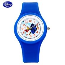 100% Disney Children Watch Fashion Casual watches Quartz Wristwatches Waterproof Jelly Kids Clock Boys girls Students Wristwatch