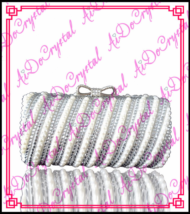 Aidocrystal white diamonds ladies clutch purse and shoes font b set b font for party