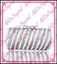 Aidocrystal white diamonds ladies clutch purse and shoes set for party