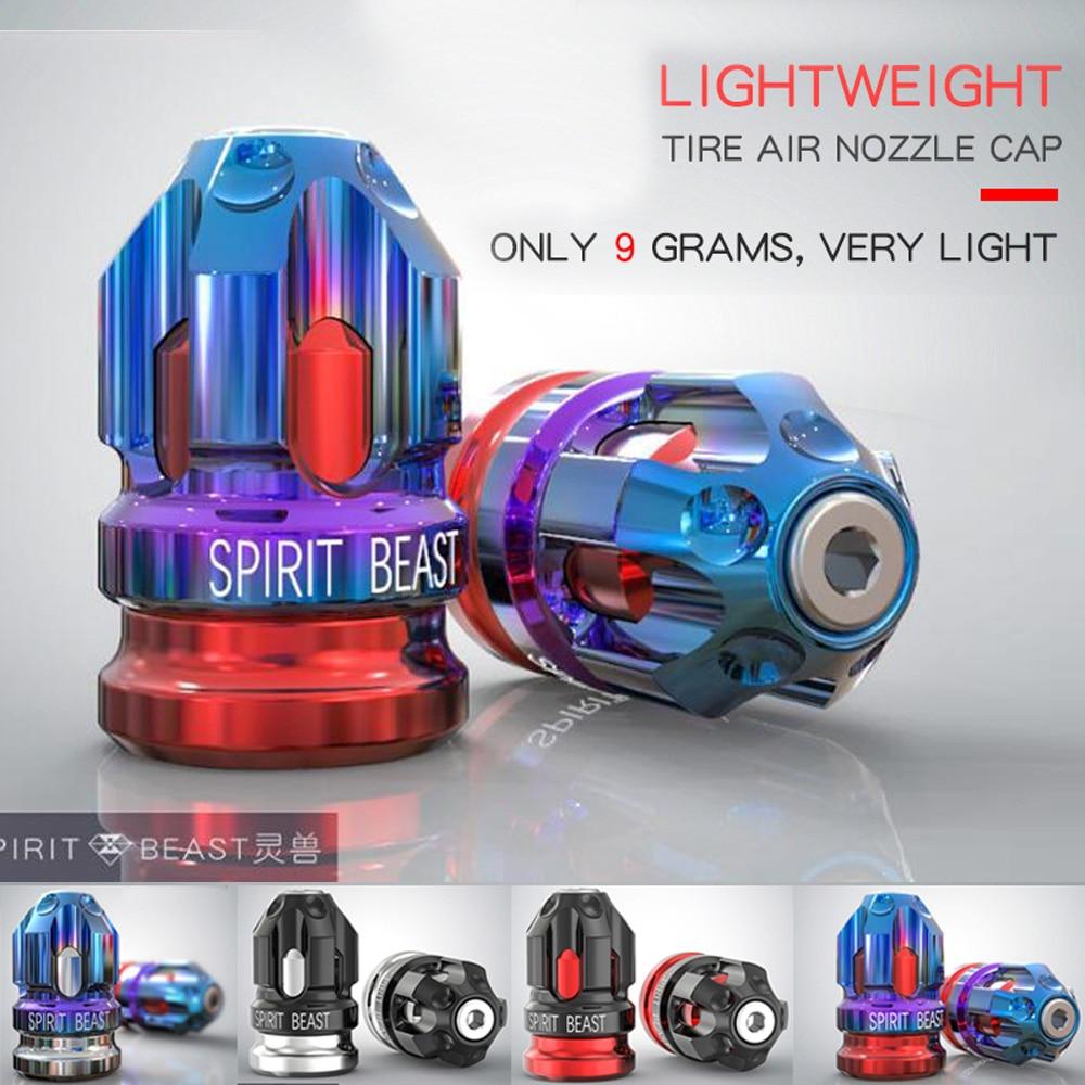 Spirit Beast Motorcycle Wheel Tire Valve Cap Nozzle Cover L3 For American Valve For Honda Yamaha Kawasaki Suzuki Ktm Vespa Bmw