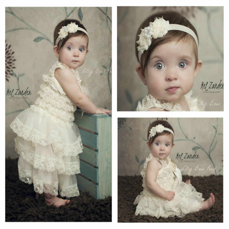 35840a4d Cute Girl Clothes Pink Flower Girl Dresses Infant Wedding Party Dress Lace  Chiffon Dress Toddler Birthday