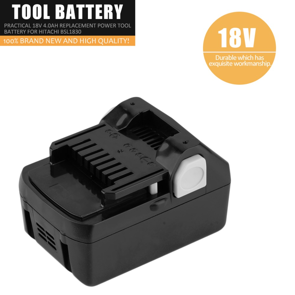 Prix pour Spécial Véritable 18 V 4.0ah Rechargeable Au Lithium Batterie Pratique Remplacement Power Tool Batterie Pour Hitachi BSL1830