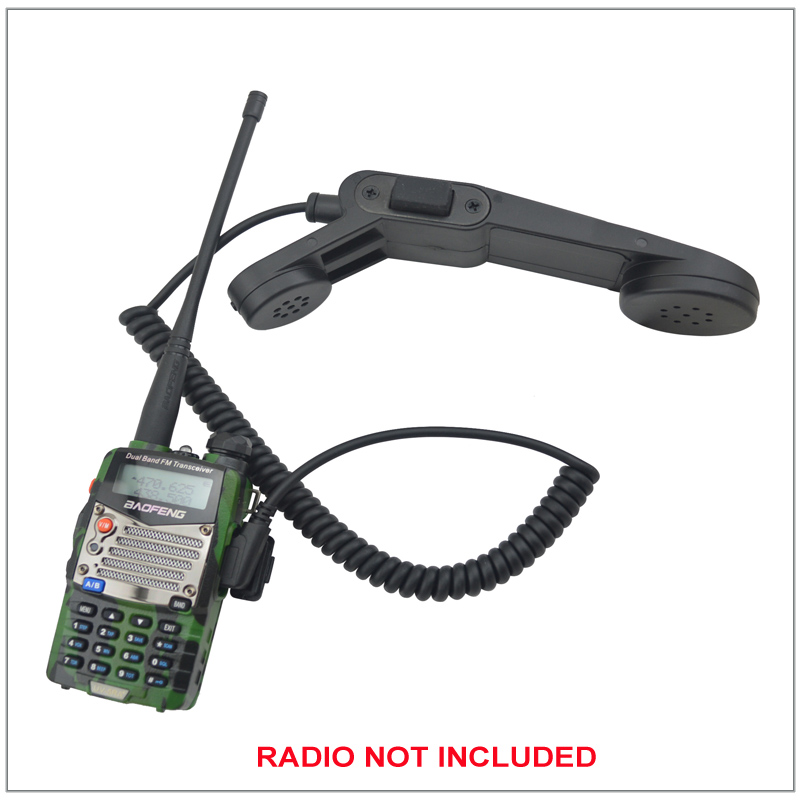 Telephone Style Handset Mic Speaker Microphone FOR Kenwood Baofeng Radio UV-5R,Wouxun KG-UVD1P, TYT MD-390