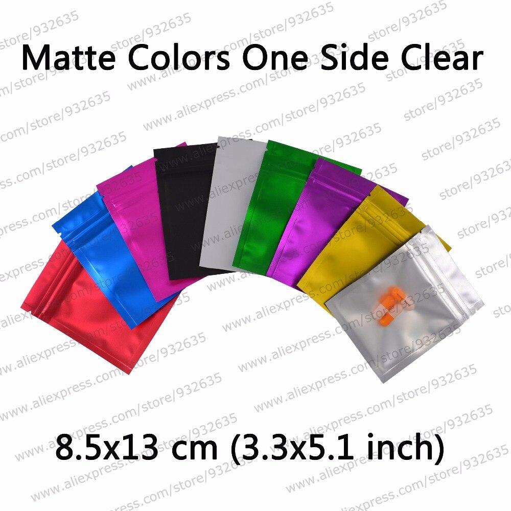 3.5''x.5.1 '' / 8.5x13cm Matte Clear Фольга Колір Zip Lock - Організація і зберігання в будинку