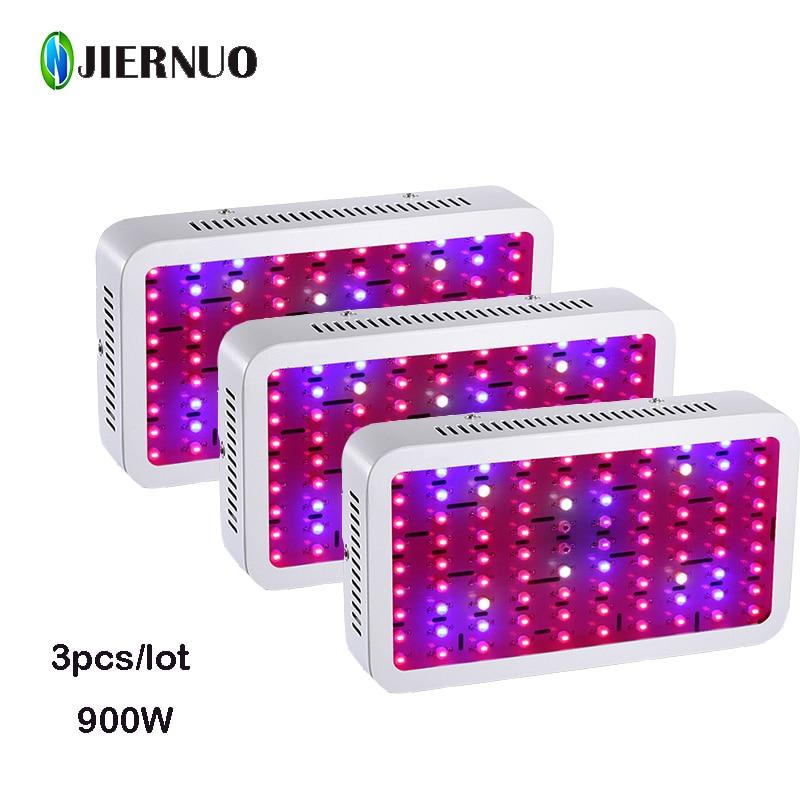 3 шт./лот 900 Вт привело светать двойные чипсы полный спектр в Помещении Завода лампы для гидропоники Цветущий сад городка освещения Лампа