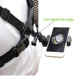 Image 5 - חזה רצועת הר w/טלפון קליפ/סוגר עבור טיפוס/סקי/רכיבה על אופניים 360 תואר לסובב עבור iPhone huawei סמסונג Gopro אבזר